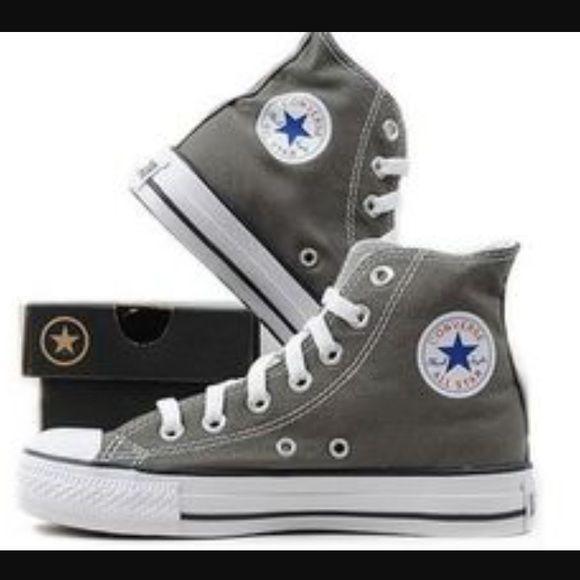 Grey converse, High top sneakers, Converse