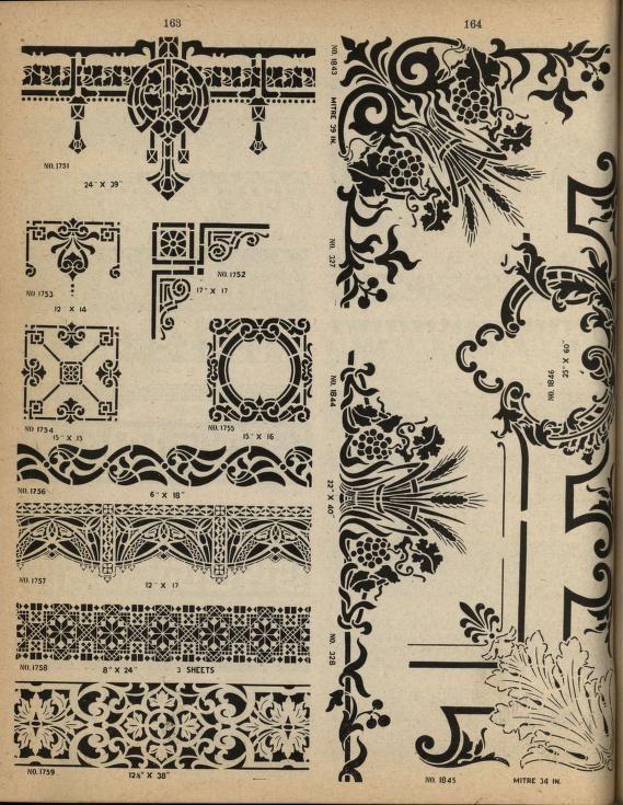 Excelsior fresco stencils. by Geo. E. Watson Co. Published 1924 ...