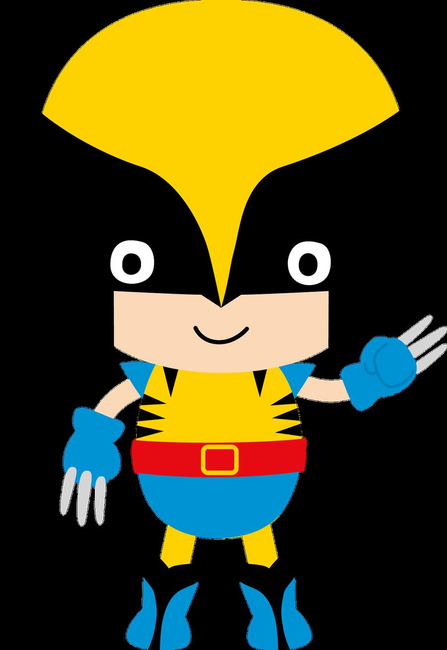 Super Herois Minus Mas Superhero Party Superhero Baby Wolverine