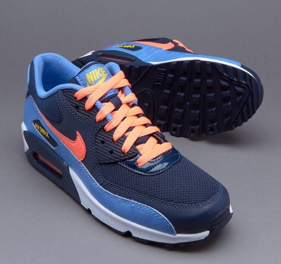 Nike Air Max 90 Mesh Gs Big Kids 724855 408 Chalk Blue Mango