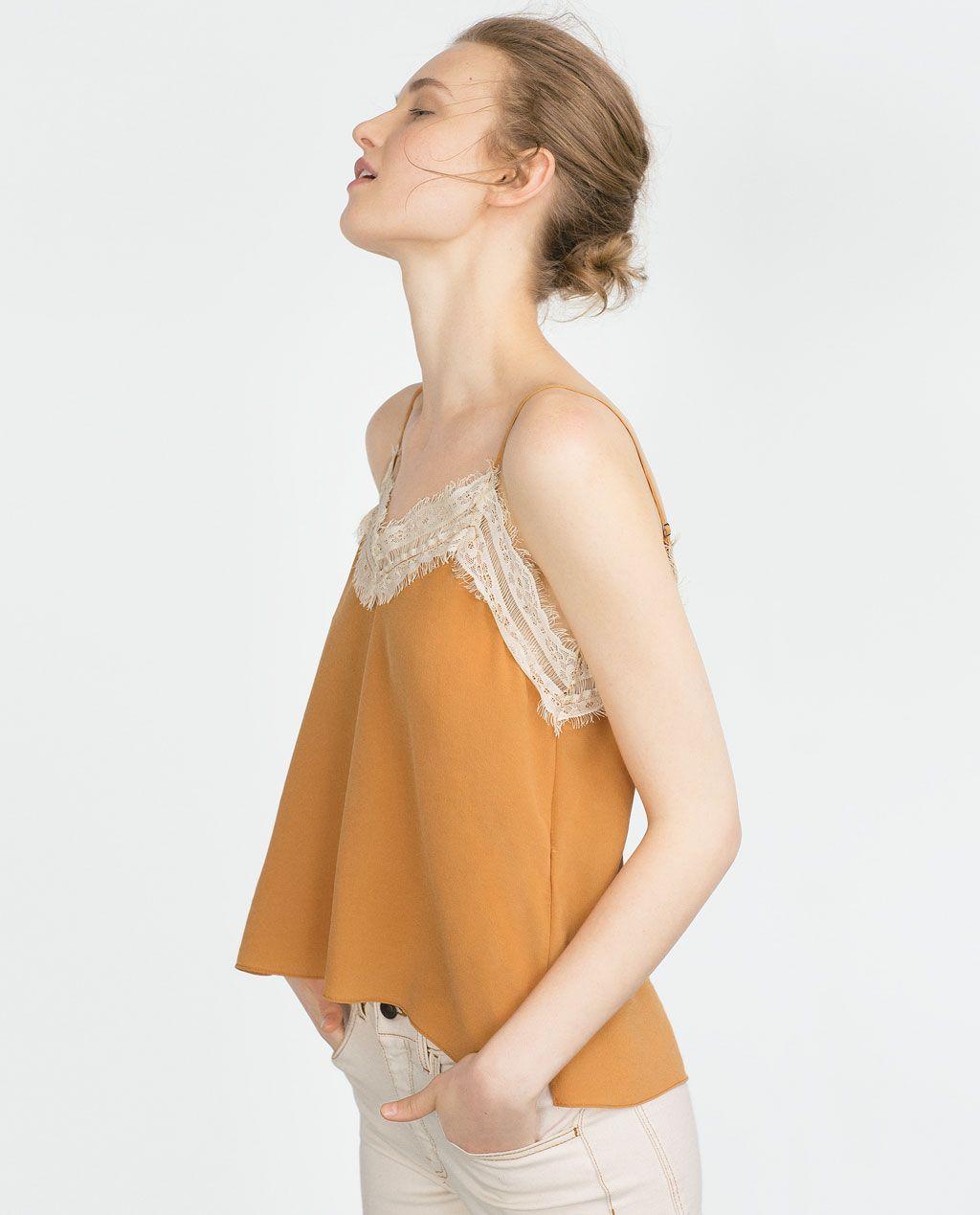Top Soie Tout Style Nuisette Voir Chemises France FemmeZara En ARLj54