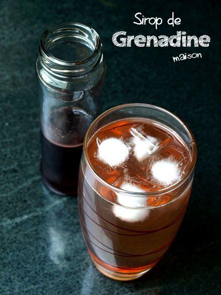 Sirop de grenadine fait maison (avec images)   Sirop de grenadine, Sirop, Idée recette