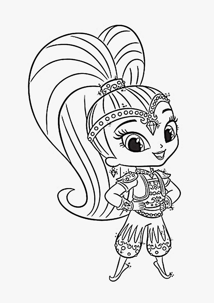 Shimmer And Shine Coloring Pages To Download Print For ...