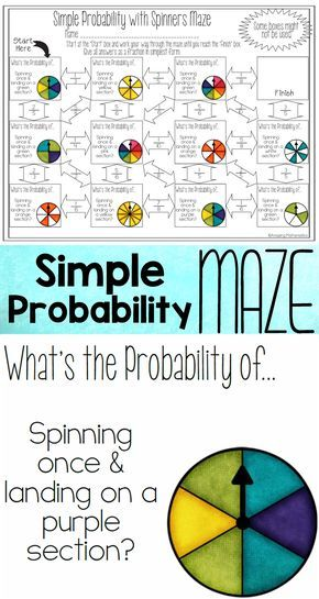 Theoretical Probability of Simple Events Maze - With Spinners ...