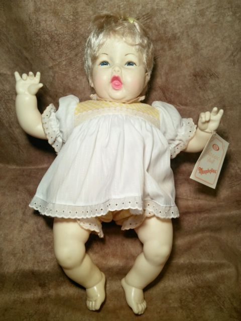 Vintage Ideal CBS Thumbelina baby Doll Crier Cloth Vinyl 1982 1983 Works crys