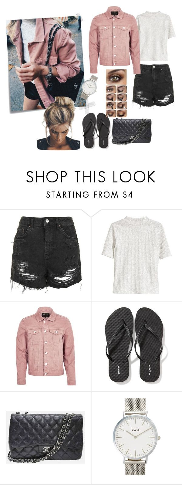 """Recreation"" by misstoffyy on Polyvore featuring Post-It, Topshop, River Island, Old Navy, Chanel and CLUSE"