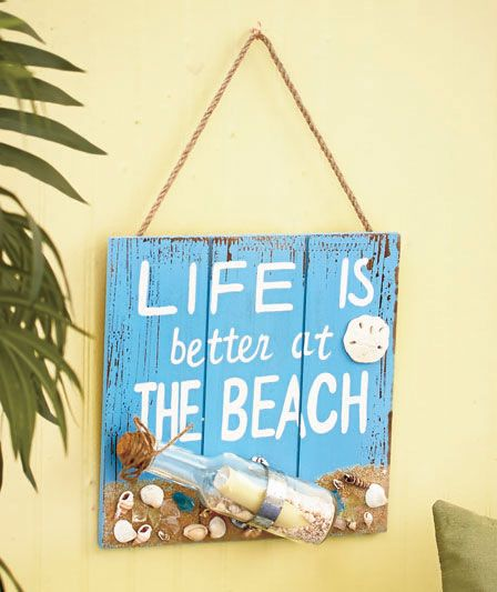 Life is better at the Beach sign LTD Commodities company (put \