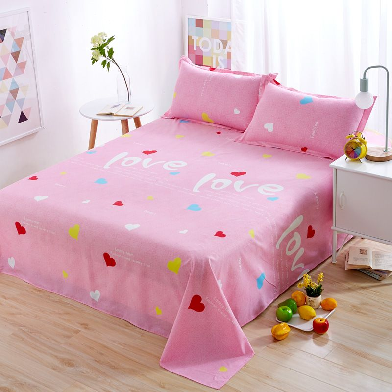 Nordic Love Heart Shaped Kids/Students Room Single/Double Bed Sheets  Polyester Bedding