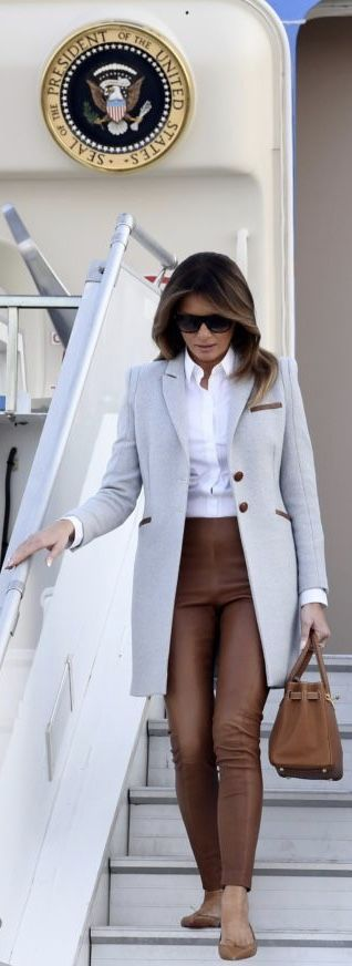 First Lady Melania Trump in American Designer Asoude