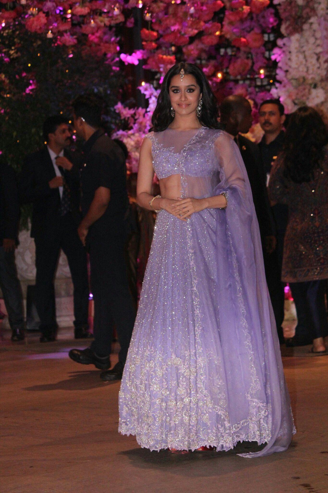 7f408070c56 (300618) Shraddha Kapoor at Akash Ambani  amp  Shloka Mehta s engagement  ceremony! Desi
