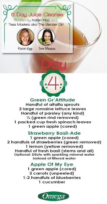 Day 4 of the 5 Day #Juice #Cleanse. Cleanse your body before #Holiday #Festivities with Omega Juicers!