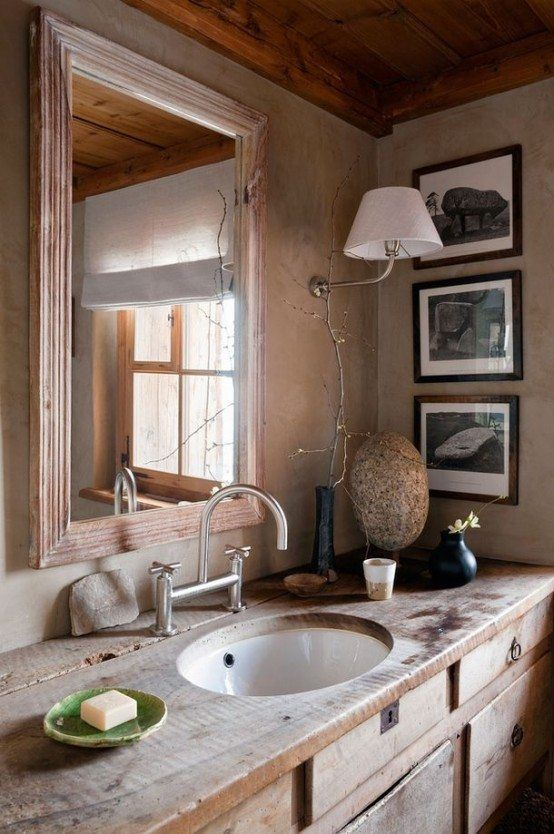 salle de bain design rustique : un havre d\'harmonie | Bath