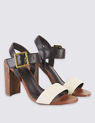 Block Heel Sandals | M\u0026S Collection | M