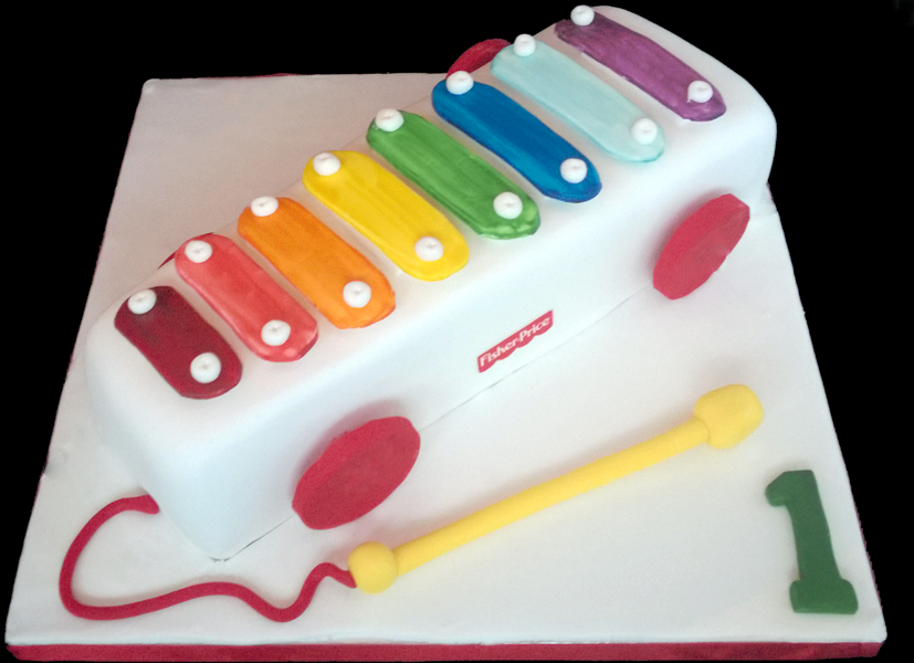 1st Birthday Cake My take on a Fisher Price Xylophone Its a
