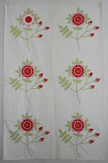 Quilts-Vintage and Antique: Red and Green Crib Quilt, found in NJ by Lynn