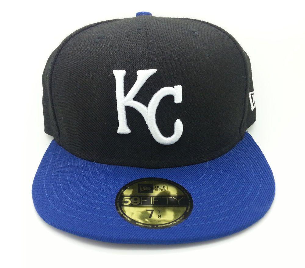 KANSAS CITY ROYALS NFL NEW ERA 59 FIFTY FITTED HAT CAP (SIZE 7 1 8) -- NEW   NEWERA  KansasCityRoyals b0e353e65