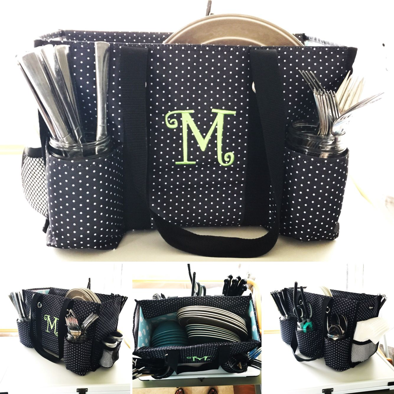 Zip Top Organizing Utility Tote From Thirty One Turned Into A Dish