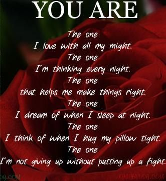Ive Always Fought For Us And I WillI Will Never Stop FightingI Promise You Are The One My Only Love Beautiful