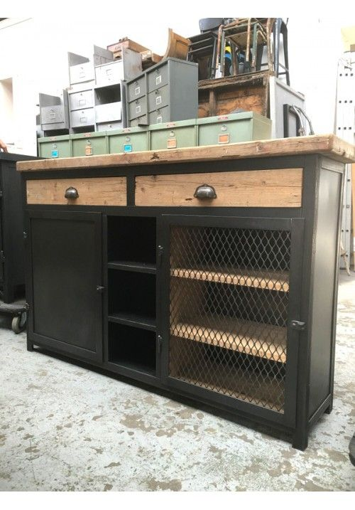 Exemple fabrication buffet industriel DIY Projects Pinterest