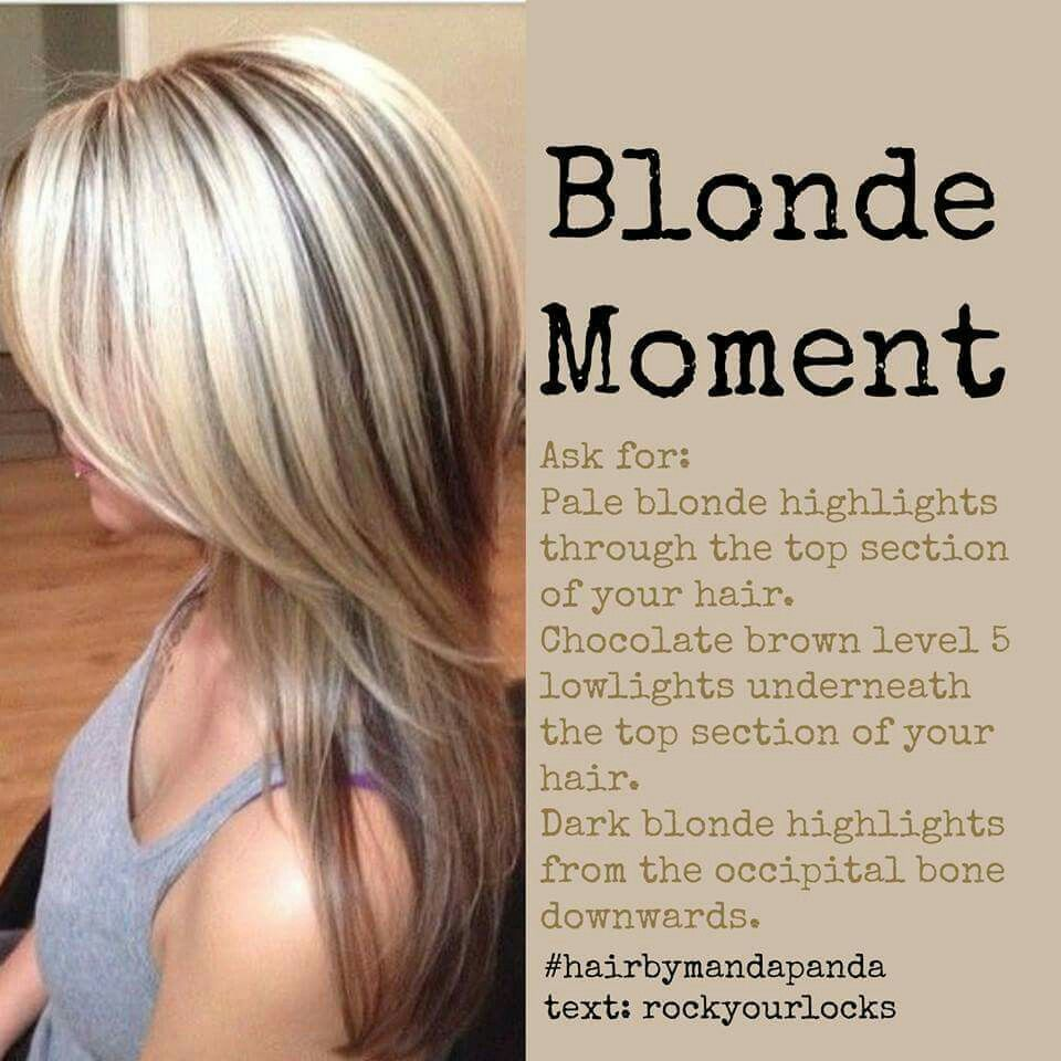 Hair color combination hair pinterest hair coloring blondes maybe just a little bit of a darker blonde highlight pmusecretfo Images