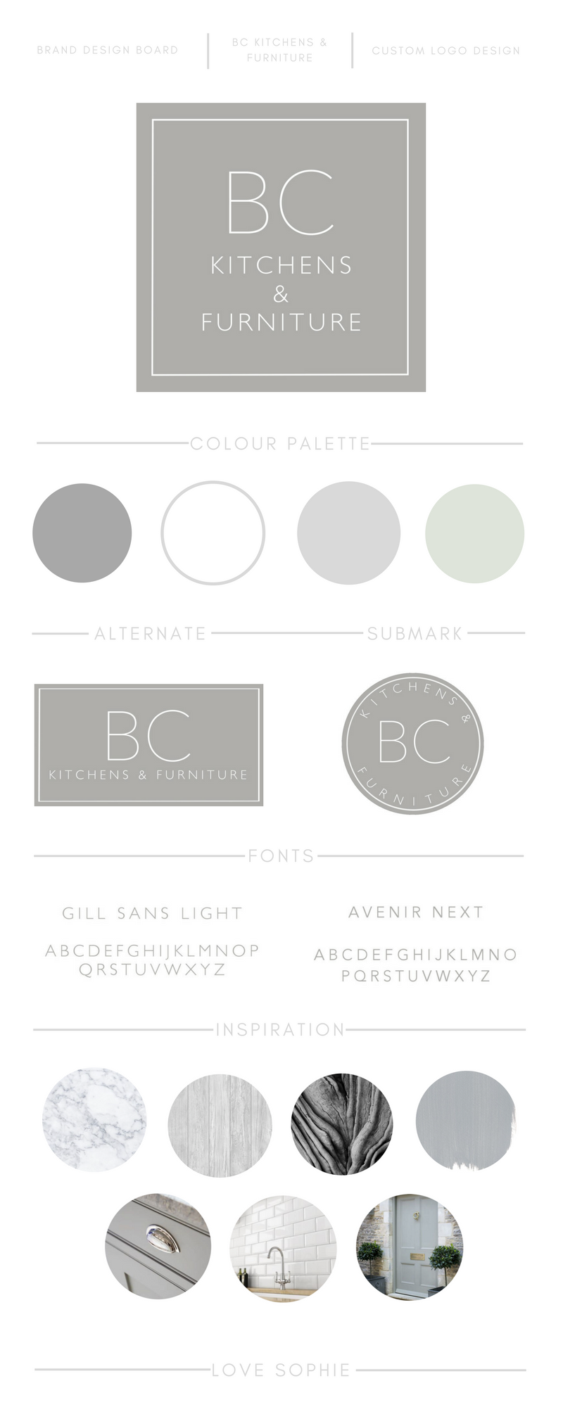 Lovely simple branding for b c kitchens u furniture small business
