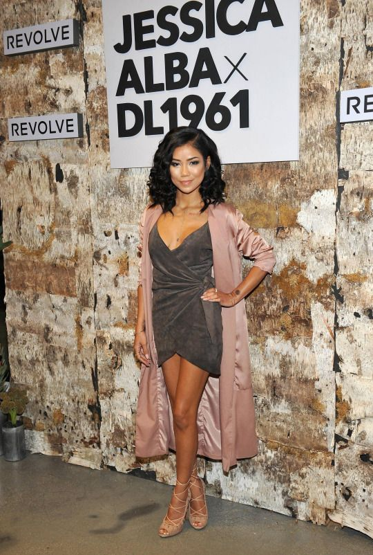7c524b2b73c9 Jhene Aiko attends the DL1961 x Jessica Alba Collection Event at the  REVOLVE Social Club on October 14