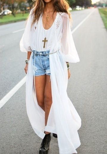 white long sheer kimono | Teen Fashion | Pinterest | Kimonos, Teen ...