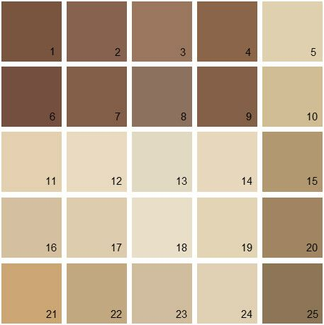 brown paint color palette images