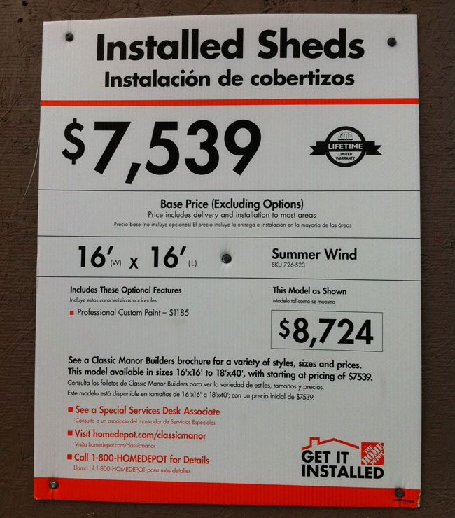 Home Depot S Barn Like Building Has A Very Reasonable Price Tag