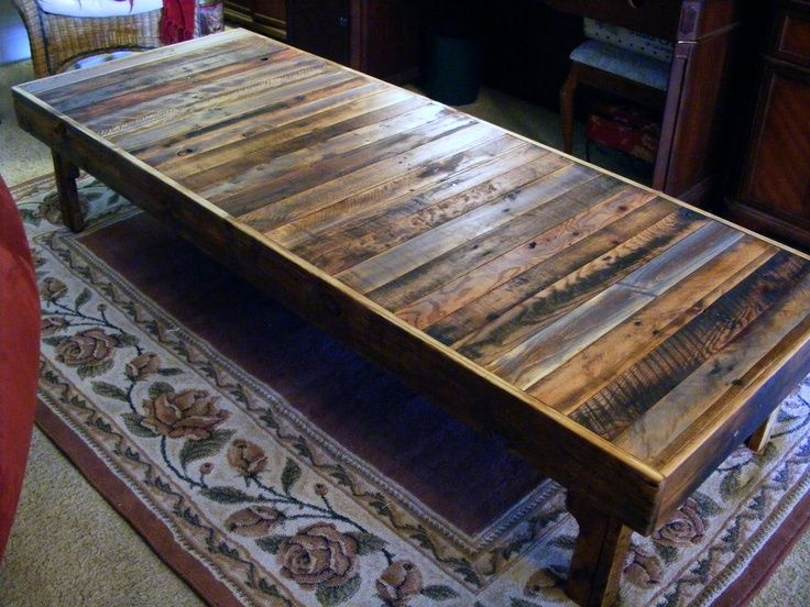 Diy Wood Pallet Projects | Extra Large Rustic Reclaimed Wood Coffee Table |  Diy Pallet Projects