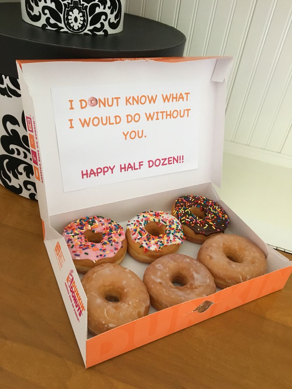 6 month anniversary donut