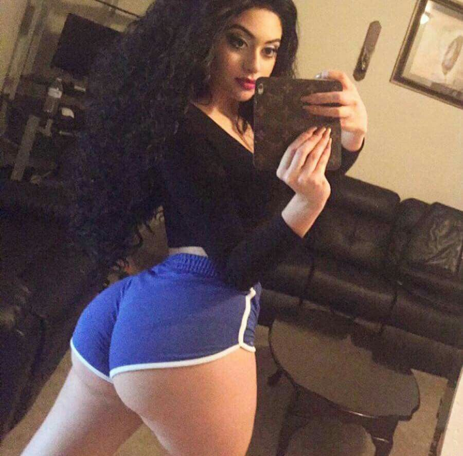 Thick Curvy Latina Booty Shorts - Xxx Photo-6390