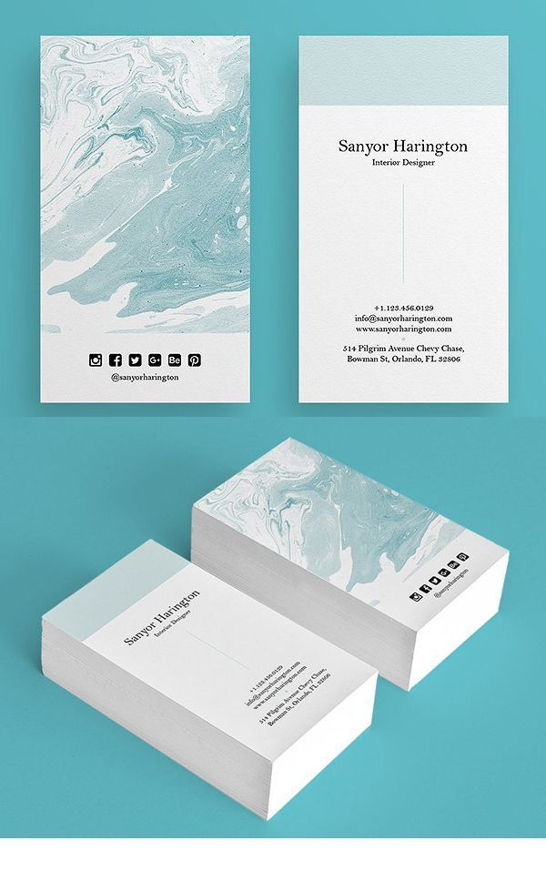 25 Elegant Business Cards (PSD) Templates