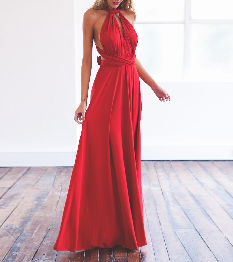 F a s h i o n m wedding pinterest red maxi dresses red
