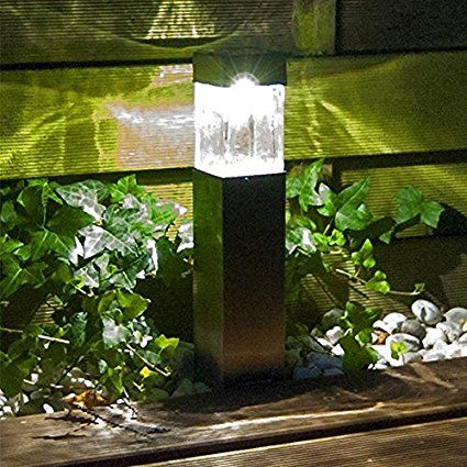 Solar Lights Outdoor Super Bright 10 Lumen Satinless Steel Solar Light Bollard Landscape Ligh Solar Lights Garden Outdoor Solar Lights Solar Landscape Lighting