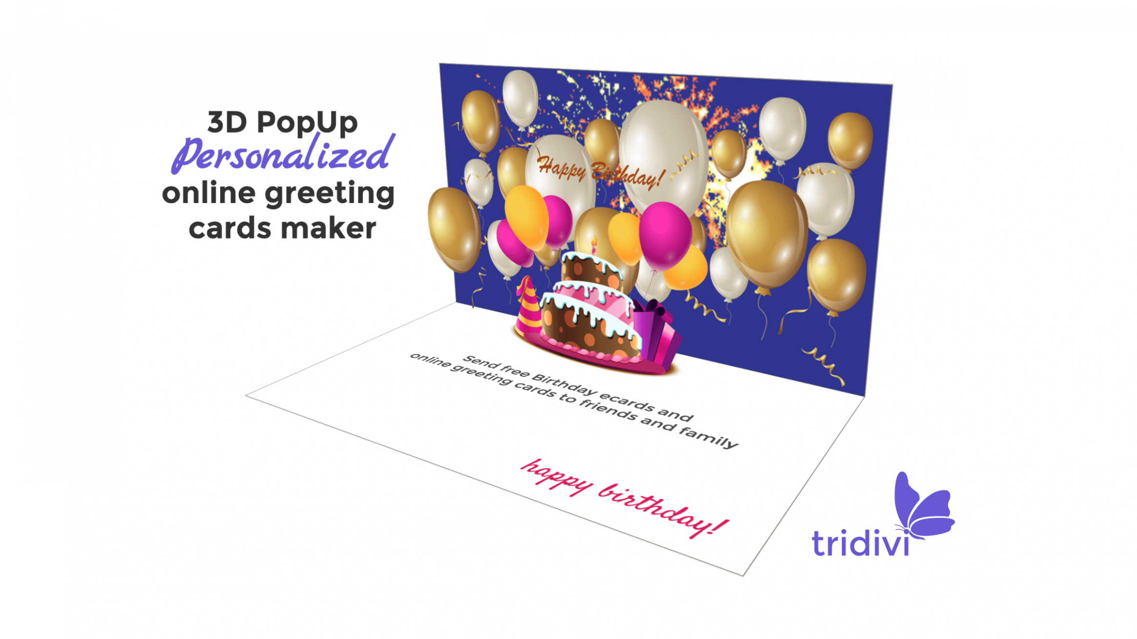 6 Happy Birthday Editable Card Online en 6  Accoutrement