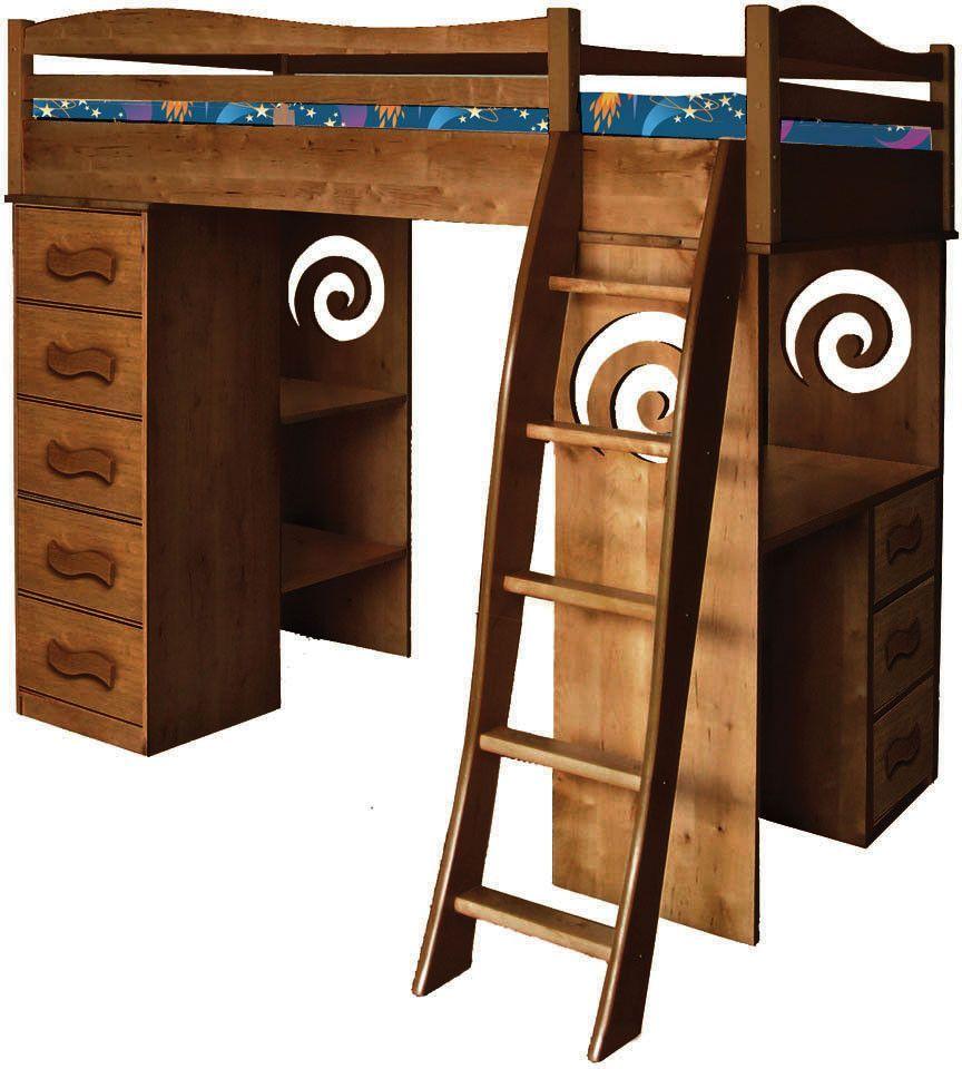 Loft bed storage stairs  Chocolate Loft RMNTD by Room Magic  General  Pinterest  Lofts