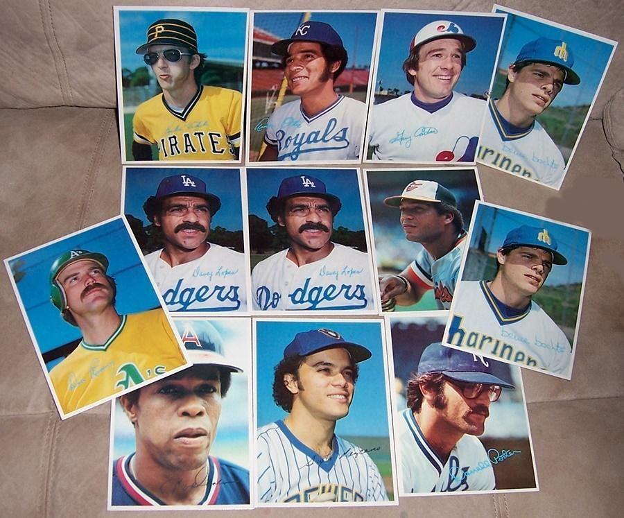 1980 topps baseball superstars photo cards gray back