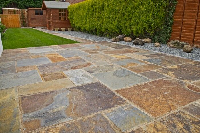 slate paving patio kit back garden pinterest slate paving slate