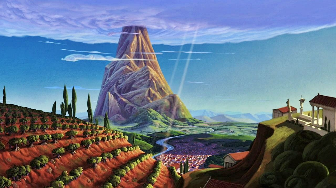 image result for disney hercules backgrounds greece