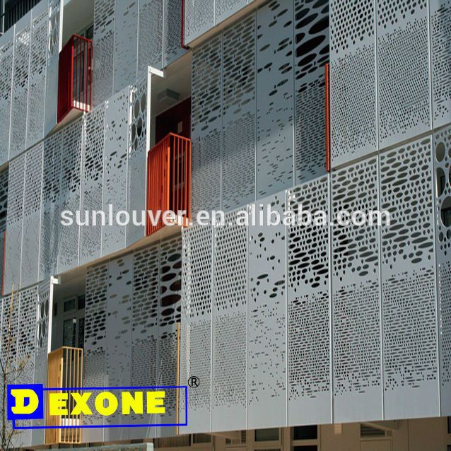 Metal aluminium engraved laser cut decorative panel sheet for Facade decoration