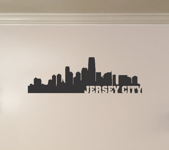 Jersey City New Jersey City Skyline Interior By Kickinstickers Jersey City New Jersey Tattoo City Skyline