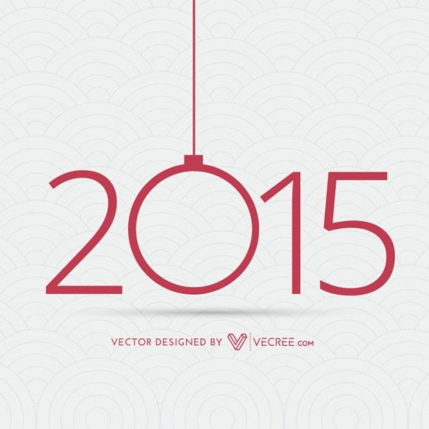 Creative happy year 2015 background