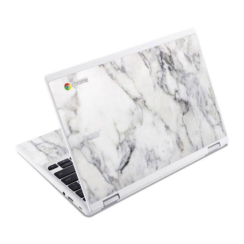 White Marble Acer Chromebook R 11 Skin Chromebook Acer