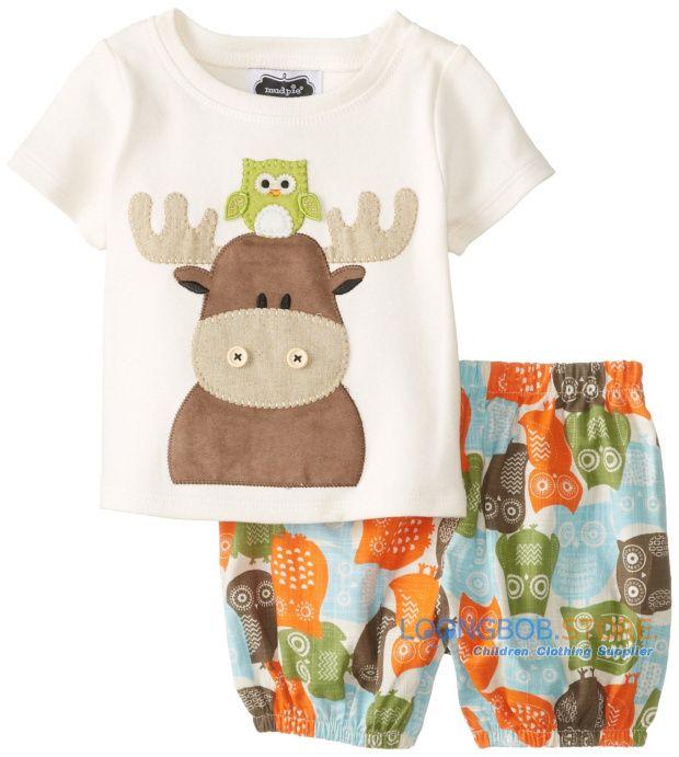 2014 новый мальчик комплект лето детская одежда с коротким рукавом мультфильм хлопок дети комплект мода животных 2 шт. одежда костюм 218A, принадлежащий категории Комплекты одежды и относящийся к Детские товары на сайте AliExpress.com | Alibaba Group