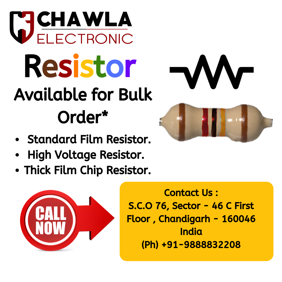 Resistor By Chawla Electronics In 2020 Resistors High Voltage Electronics