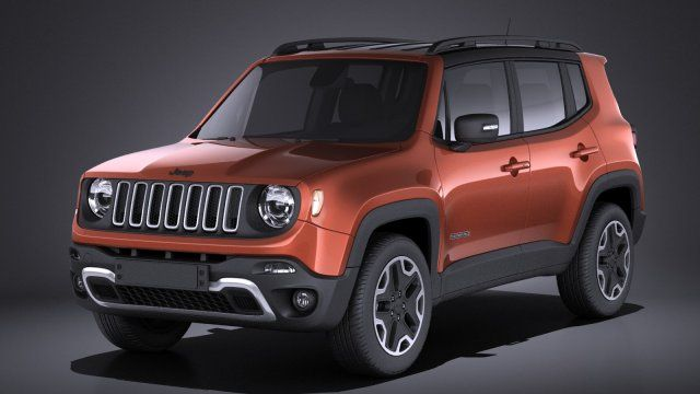 Jeep Renegade 2017 Vray 3d Model Max C4d Obj 3ds Fbx Lwo