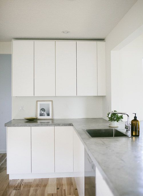 IKEA Ringhult Cabinets With Concrete Countertops