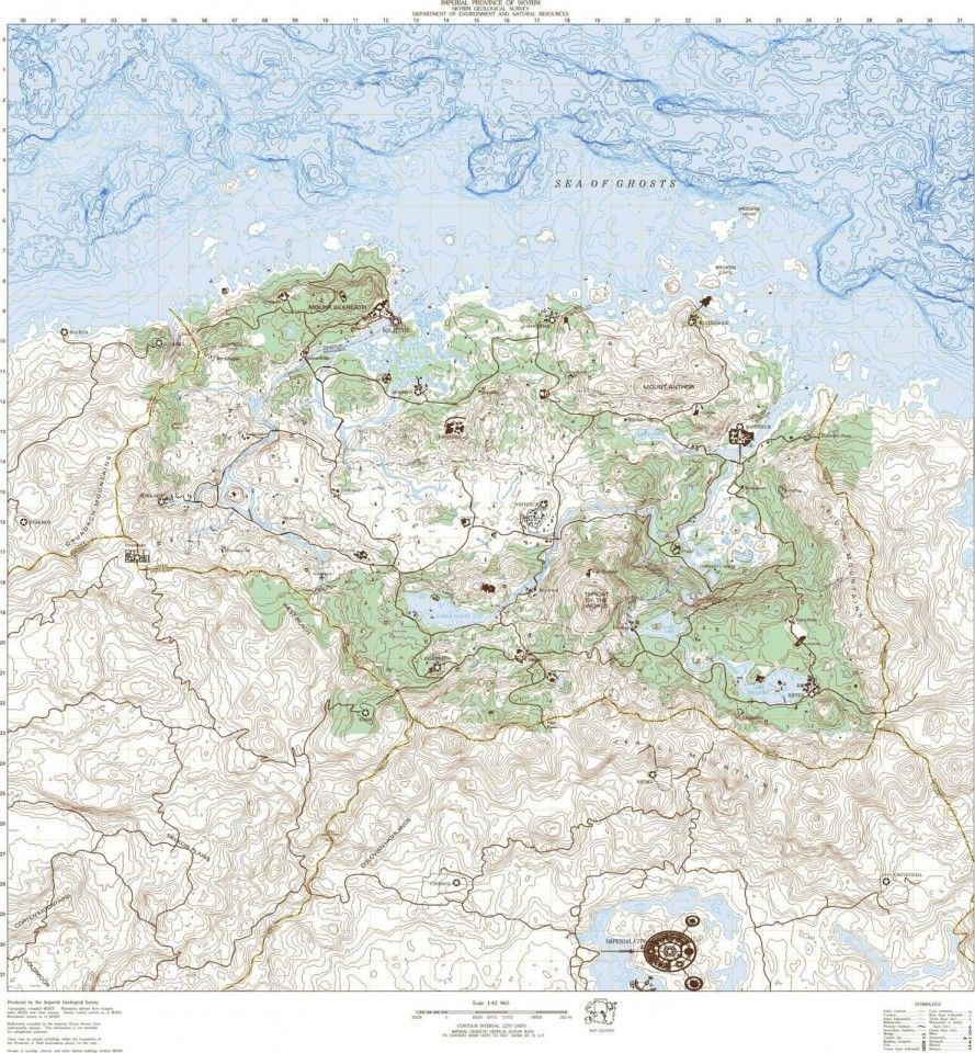Topographic Map Games.Skyrim Geological Survey Topographic Map Games Pinterest Map