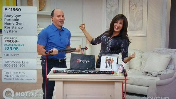 Dan Wheeler and Marie Osmond at QVC with the BodyGym | Marie
